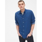 Linen-Cotton Shirt in Standard Fit
