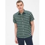 Linen-Cotton Short Sleeve Shirt in Standard Fit