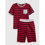 Stripe Pocket Short PJ Set