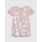 Floral Print Flutter Sleeve Dress