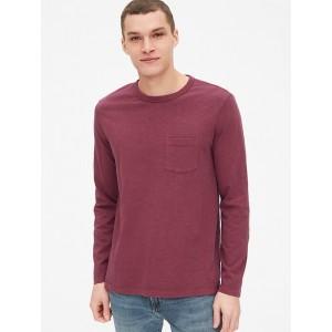 Vintage Slub Jersey Long Sleeve Pocket T-Shirt
