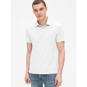 Sueded Jersey Polo Shirt