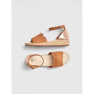 Kids Eyelet Espadrille Sandals