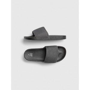 Knit-Stripe Slide Sandals