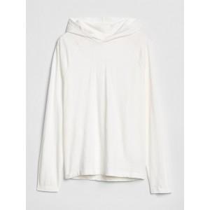 Casual Raglan Pullover Hoodie in Slub Jersey