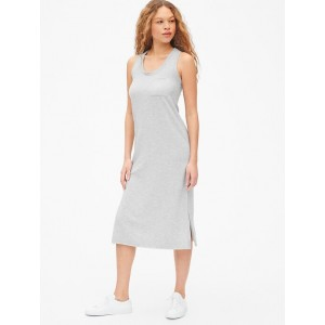 Sleeveless Pocket Midi Dress in Lightweight Fleece
