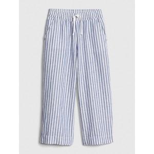 Kids Railroad Stripe Wide-Leg Pants