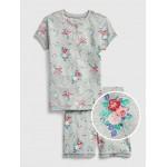 Floral Henley Short PJ Set