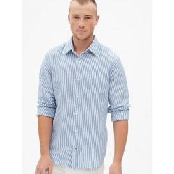 Linen-Cotton Shir...