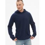 Vintage Slub Jersey Raglan Pullover Hoodie