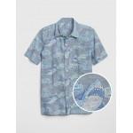 Chambray Shark Short Sleeve Shirt