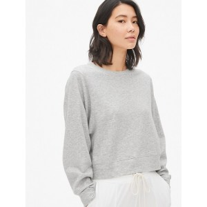 Cropped Pullover Sweatshirt