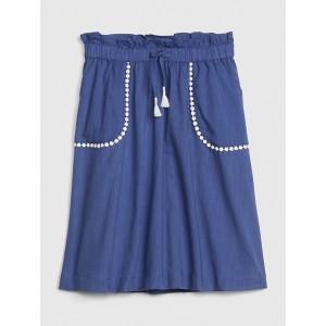 Kids Tassel Scalloped-Trim Midi Skirt