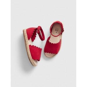 Scalloped Espadrille Sandals