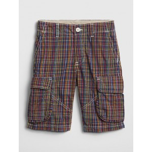 Kids Cargo Shorts in Poplin
