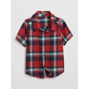 Baby Plaid Short Sleeve Shirt