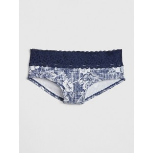 Stretch Cotton & Lace Hipster