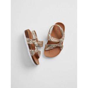 Metallic Knot Cork Sandals