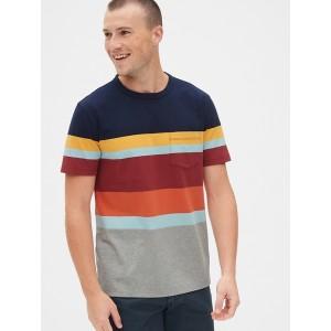 Heavyweight Stripe Pocket T-Shirt