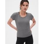 GapFit Breathe Crossover Tie-Back T-Shirt