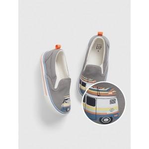 Toddler Shark Van Slip-On Sneakers