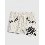 Toddler Embroidered Denim Pull-On Shorts