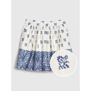 Kids Border-Print Skirt