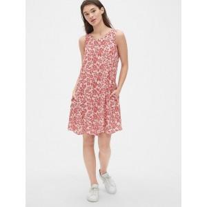 Sleeveless Print Shift Dress