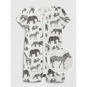 Baby Organic Cotton Smocked Shorty One-Piece