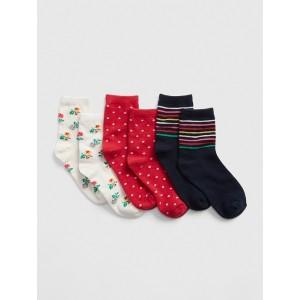 Kids Print Crew Socks (3-Pack)
