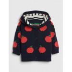 Baby Apple Garter Sweater