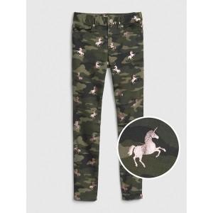 Kids Superdenim Camo Unicorn Skinny Jeans