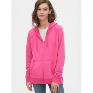 Raglan Full-Zip Hoodie Sweatshirt