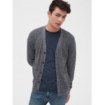 Button-Front Cardigan Sweater