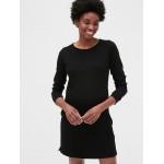 Maternity Three-Quarter Sleeve Sweatshirt Dress in French Terry