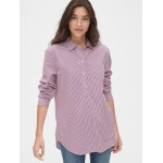 Boyfriend Stripe Popover Shirt