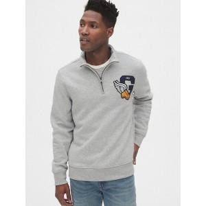 Gap Athletic Logo Quarter-Zip Mockneck Sweatshirt