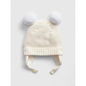 Baby Pom Trapper Hat