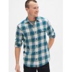 Slub Plaid Flannel Shirt in Standard Fit