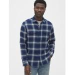 Denim Plaid Work Shirt