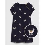 Toddler Zip Short Sleeve Dress