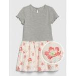 Toddler Short Sleeve Mix-Media Dress