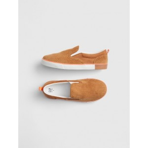 Kids Cord Slip-On Sneakers
