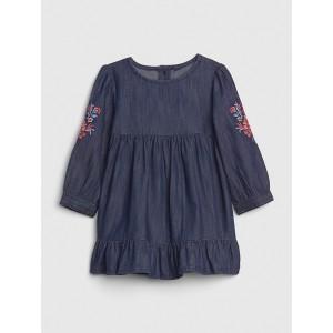 Baby Embroidered Denim Dress