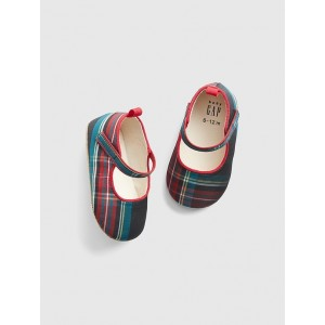 Baby Plaid Mary Janes