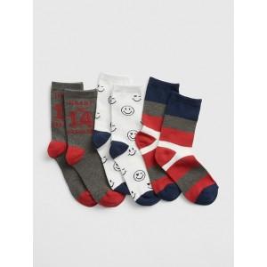 Kids Heart Breaker Crew Socks (3-Pack)