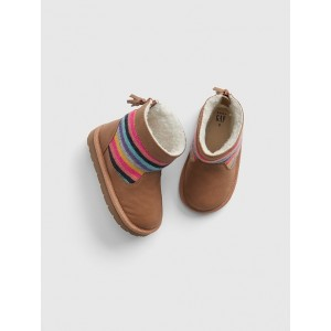 Toddler Stripe Sherpa Boots