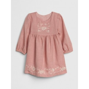 Baby Embroidered Flannel Dress