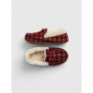 Kids Buffalo Plaid Slippers
