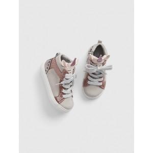 Toddler Glitter Unicorn Hi-Top Sneakers